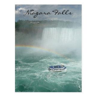 niagara boat bow postcard