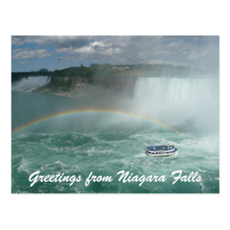 niagara boat greetings postcard