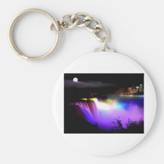 Niágara-Caída-debajo-reflector-en-noche Llaveros Personalizados