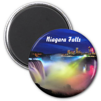 Niagara Fall on the Nigth 2 Inch Round Magnet