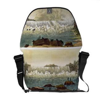 Niagara Falls, 1818 (colour engraving) Messenger Bag