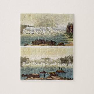 Niagara Falls, 1818 (grabado del color) Rompecabeza