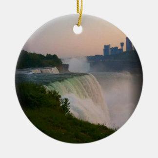 Niagara Falls Adorno Navideño Redondo De Cerámica