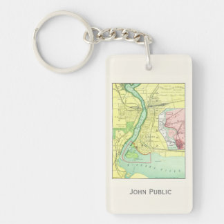 Niagara Falls and Vicinity Vintage Map 1885 Keychain