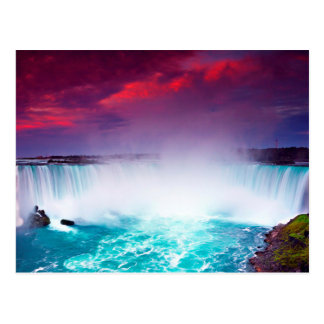 Niagara Falls at Sunset Postcard