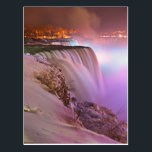 """Niagara Falls at Winter from Prospect Point Postcard<br><div class=""""desc"""">Prospect point night view of the Niagara Falls,  in winter.</div>"""