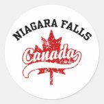 Niagara Falls Canadá Pegatinas Redondas