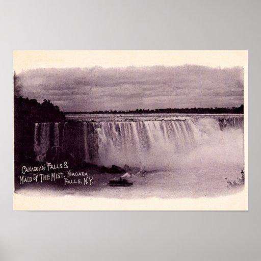 Niagara Falls Canadian Falls Maid of the Mist Print