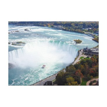 USA Themed Niagara Falls Canvas Print