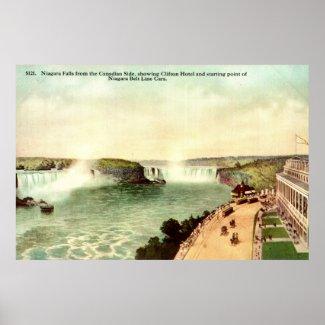 Niagara Falls, Clifton Hotel 1915 Vintage print