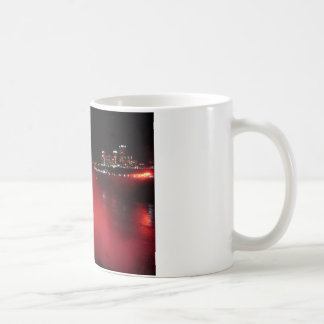 Niagara Falls Coffee Mug Night Red Lights Photo