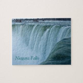 Niagara Falls con el texto Rompecabezas Con Fotos