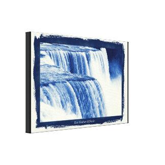 Niagara Falls Cyanotype  Effect Canvas Print