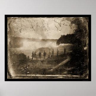 Niagara Falls Daguerreotype 1853 Poster