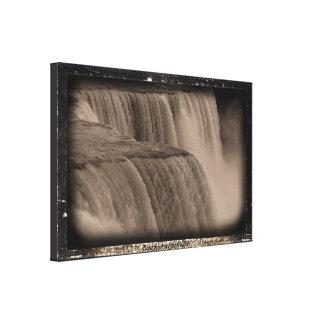 Niagara Falls Daguerreotype  Effect Canvas Print