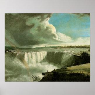 Niagara Falls de la roca de la tabla de Juan Póster