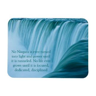 Niagara Falls dedicó y disciplinó Rectangle Magnet