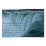Niagara Falls dedicó y disciplinó Poster
