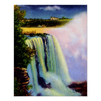 Niagara Falls en la noche de la isla de la cabra Posters