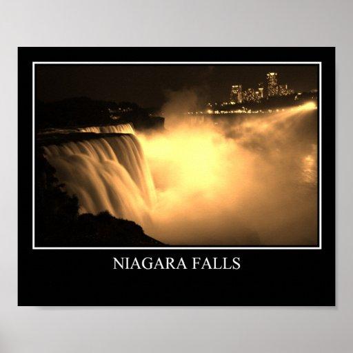 Niagara Falls en la noche Impresiones