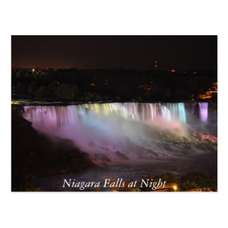 Niagara Falls en la noche Tarjetas Postales