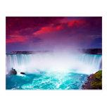 Niagara Falls en la puesta del sol Tarjetas Postales