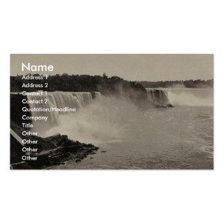Niagara Falls from Steel Arch Bridge rare Photochr Business Card Templates