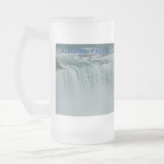 Niagara Falls Frosted 16 oz Frosted Glass Mug