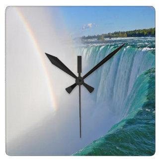 Niagara Falls Horseshoe Falls & Rainbow Clock