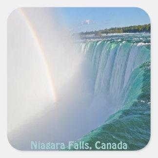 Niagara Falls Horseshoe Falls & Rainbow Square Sticker