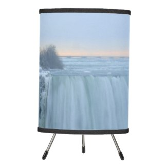 Niagara Falls in Winter Tripod Lamp