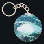 """Niagara Falls keychain<br><div class=""""desc"""">Vibrant colors covered with scratch- and UV-resistant Mylar  Tight-fitting clasp keeps your keys together  2&#188;&quot; round - fits nicely in your pocket or purse</div>"""