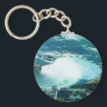 "Niagara Falls keychain<br><div class=""desc"">Vibrant colors covered with scratch- and UV-resistant Mylar  Tight-fitting clasp keeps your keys together  2&#188;&quot; round - fits nicely in your pocket or purse</div>"