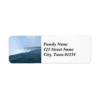 Niagara Falls Return Address Label