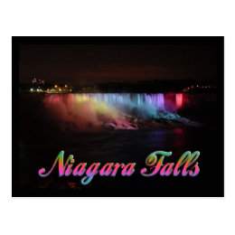 Niagara Falls Lights at Night Postcard