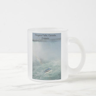 Niagara Falls (mug) Frosted Glass Coffee Mug