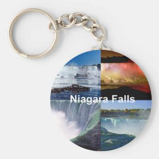 Niagara Falls New York Basic Round Button Keychain