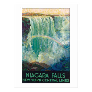 Niagara Falls New York Central Lines Postcard