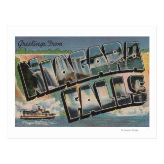 Niagara Falls New York - Large Letter Scenes 2 Postcard