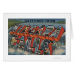 Niagara Falls, New York - Large Letter Scenes 3 Greeting Card