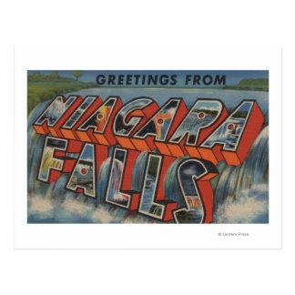 Niagara Falls, New York - Large Letter Scenes 3 Post Card