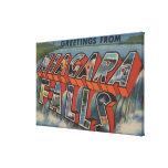 Niagara Falls, New York - Large Letter Scenes Canvas Print