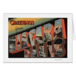 Niagara Falls, New York - Large Letter Scenes Greeting Card