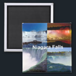 """Niagara Falls New York Magnet<br><div class=""""desc"""">This collage of photos of America&#39;s most beautiful water falls, Niagara Falls in New York. Send a message to sandy@sandyspider.com or sandyswebnetwork@gmail.com if you would like to see any of these designs on a product not shown. I will gladly make a custom-made product just for you. To Search for a...</div>"""
