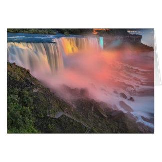 Niagara Falls Night Lights Card