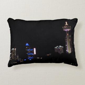 Niagara Falls Nightscape Pillow