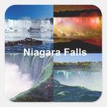 Niagara Falls Nueva York Colcomanias Cuadradas