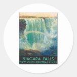 Niagara Falls Nueva York Etiquetas Redondas