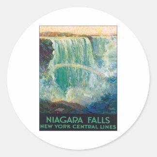 Niagara Falls Nueva York Pegatina Redonda
