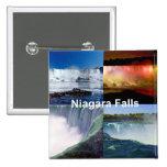Niagara Falls Nueva York Pin Cuadrada 5 Cm